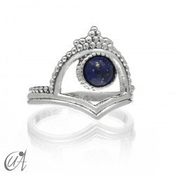 Ring in 925 silver and lapizlazuli, Parvati