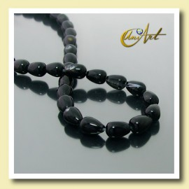 Black Agate Beads in tear shape