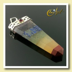 Chakras pendent with Granate