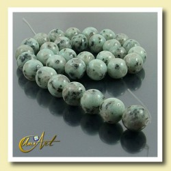 12 mm Round Beads of Blue African Jasper