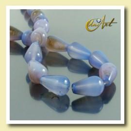 Blue Agate beads in tear shape 16 x 10 mm