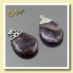Big Tear pendants of Amethyst