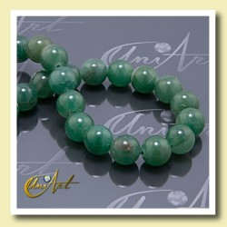 Beads of green aventurine, 12 mm