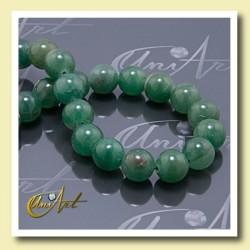 Tira de Aventurina verde,  bolas 12 mm