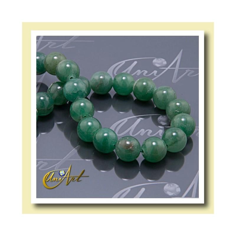 beads of green aventurine,  12 mm