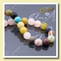 10 mm beads of various semi-precious stones