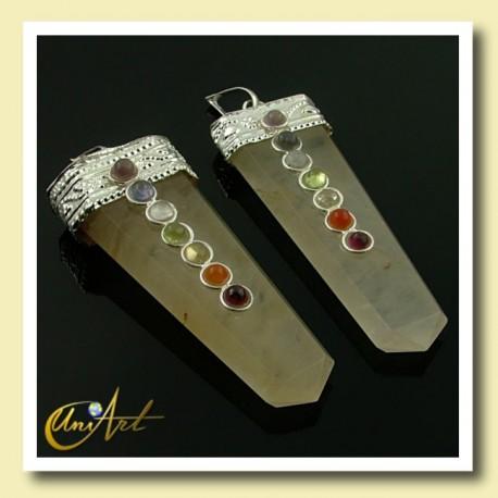 7 Chakras Pendant - yellow quartz