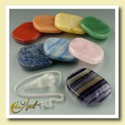Kit de los Chakras, piedras y péndulo