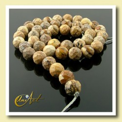 Picture Jasper Bead - 8 mm Round faceted