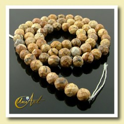 Picture Jasper Bead - 06 mm Round faceted
