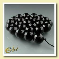 Tira de ágata negra 16 mm - bolas facetadas