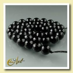 Bolas facetadas de ágata negra 10 mm