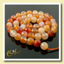Carnelian Faceted beads - 8mm