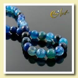 Ágata Azul, bolas facetadas 6 mm