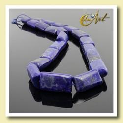 lapislázuli, cuenta rectngular 10x15 mm