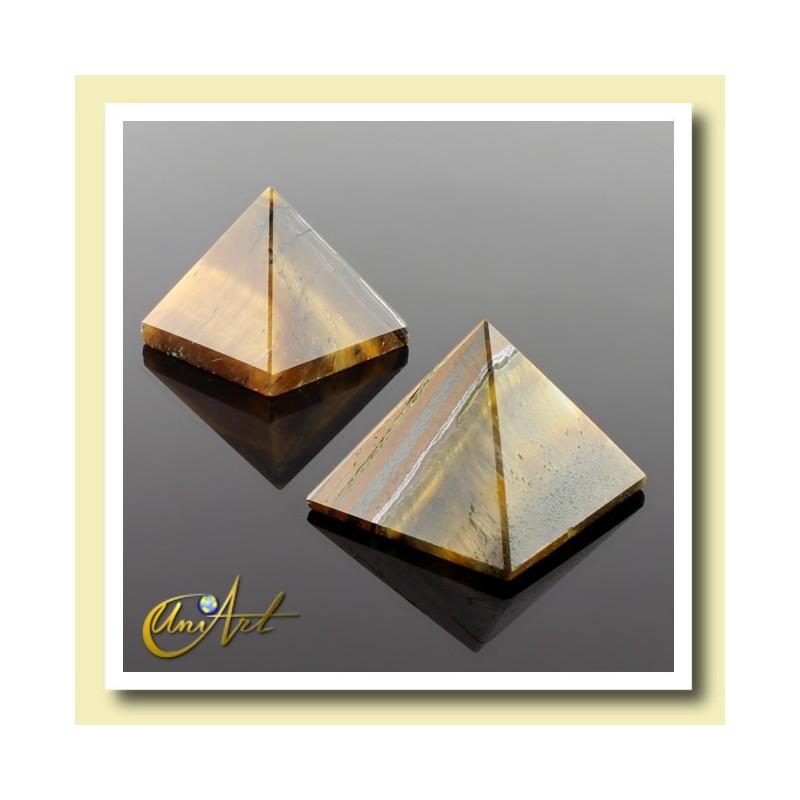 Pyramid of 2 cm of tiger eye