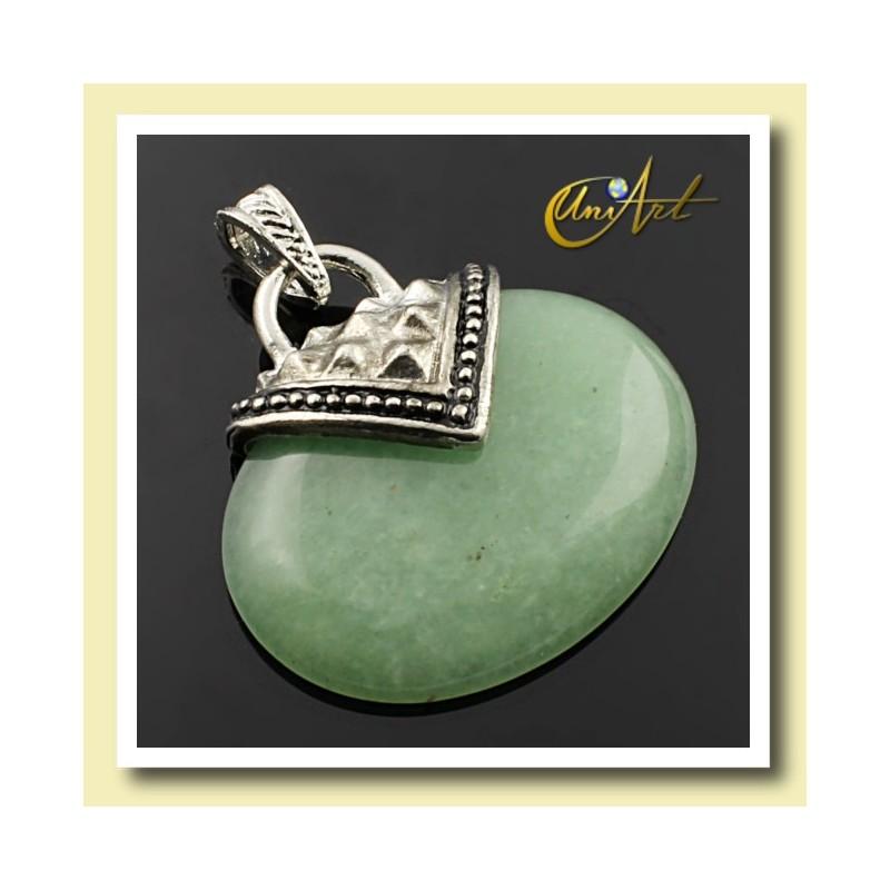 Colgante en aventurina verde modelo Esparta