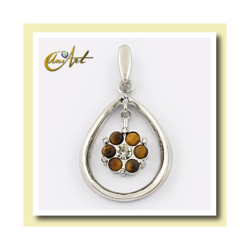 Double pendant with tiger eye