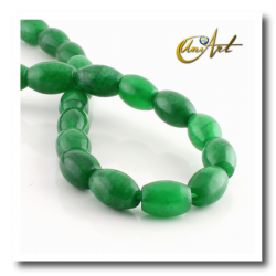 Green jade olive shape beads