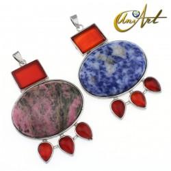 Karnak pendant with natural gemstone