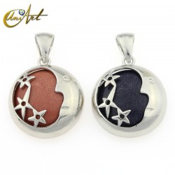 Pendant moon and stars