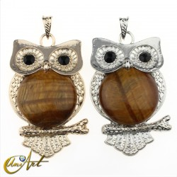 Tiger eye owl pendant