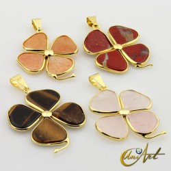 Gold plated  clover pendant