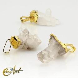 Crystal Quartz Drusy Pendant