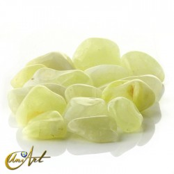 Quartz and sulfur tumbled stones in packet of 200 grs