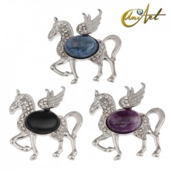 Pegasus, semi precious stones pendant