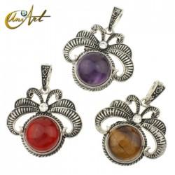 Vintage natural stones pendant