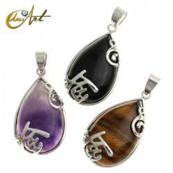 Teardrop crystals pendant
