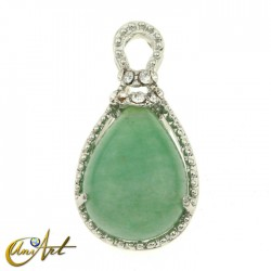 Green aventurine pendant - drop shape