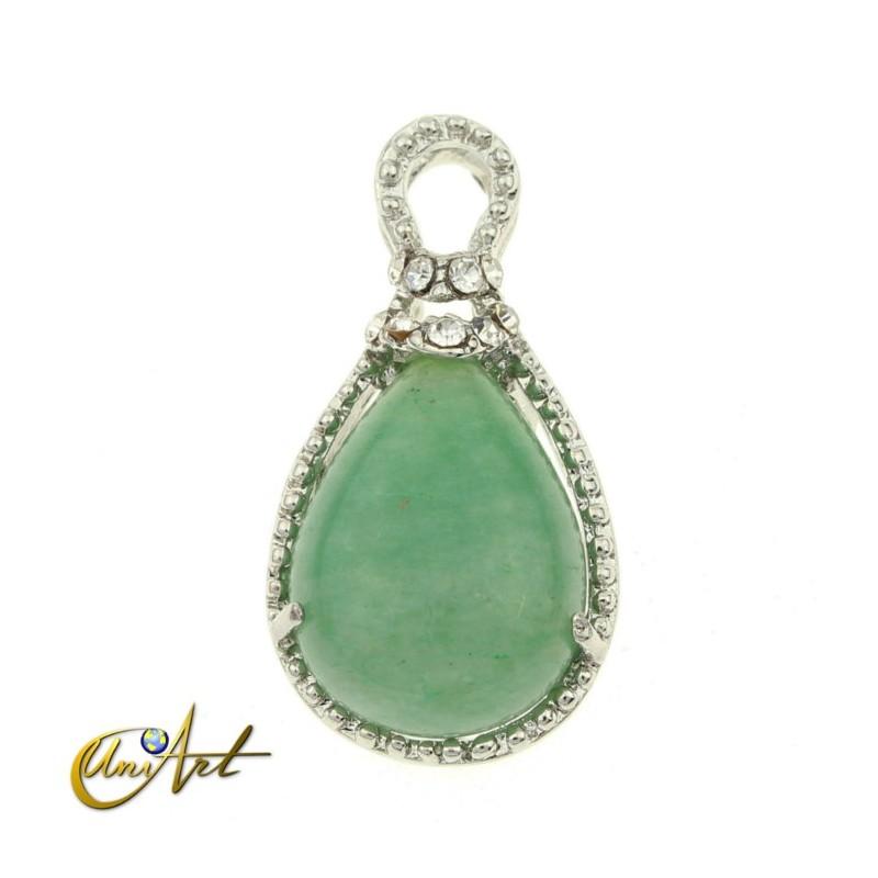 Buy drop shaped green aventurine small pendant green aventurine pendant drop shape aloadofball Choice Image