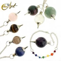 Péndulo bola con cadena de los chakras