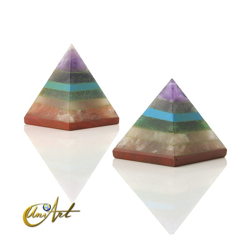 Small chakras pyramid