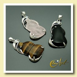 Guitar pendant of Natural Stone