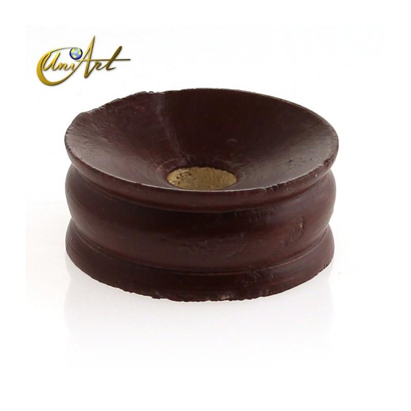 Base para esfera color marrón