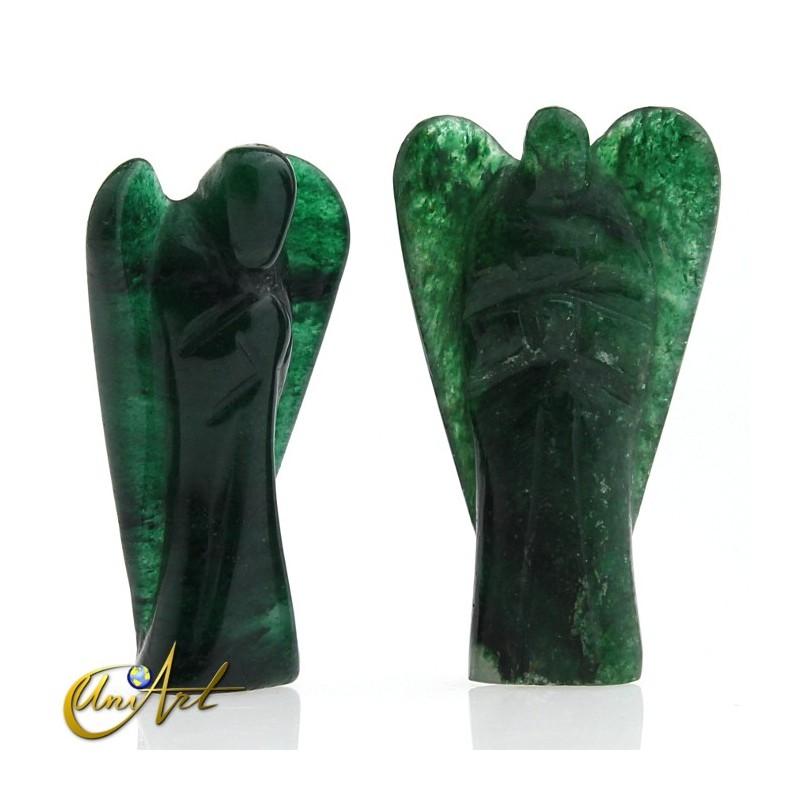 Ángel de la Salud de Aventurina Verde, representa al Arcángel Rafael - tono oscuro