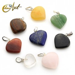 Lote de 10 corazones en piedras naturales