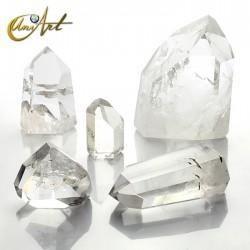 Puntas de cuarzo cristal