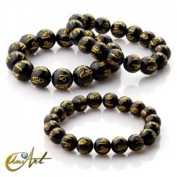 Black Agate mantra bracelet