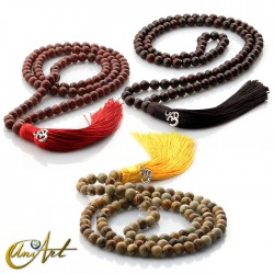 Jasper Tibetan Buddhist Mala in 8 mm beads