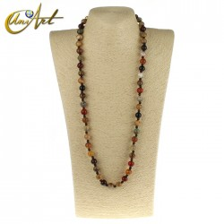 Rustic Necklace of Jasper and Agate