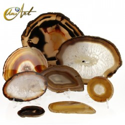 Brown agate slices