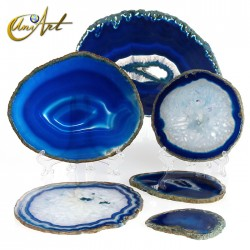 Lámina de Ágata azul