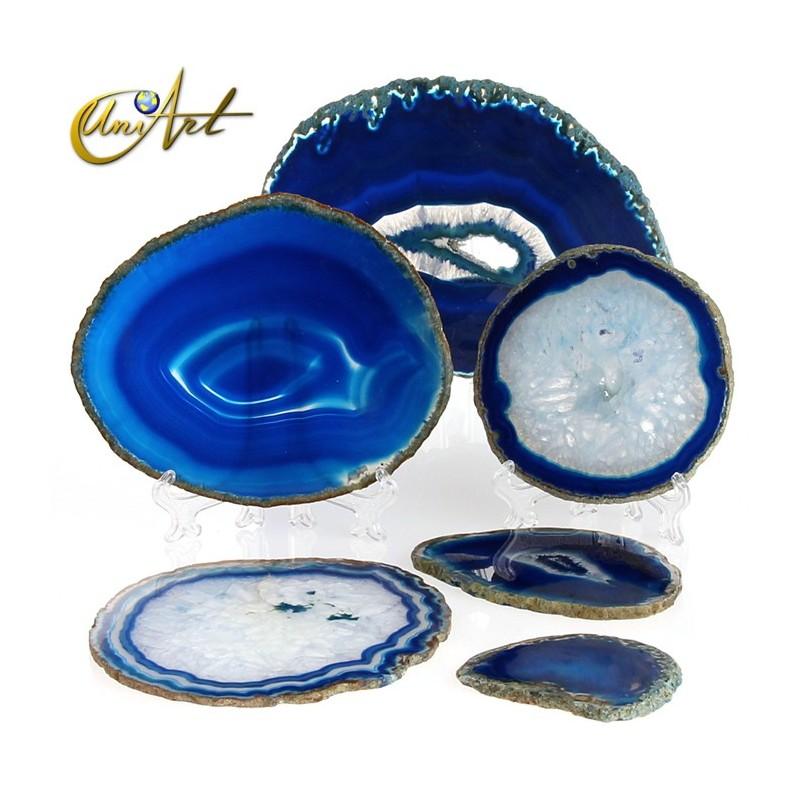 Blue agate slice