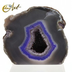 Grey and purple agate geode,