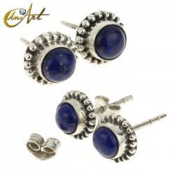 925 Sterling silver and Lapis lazuli earrings