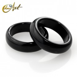 medium ring of  black onyx